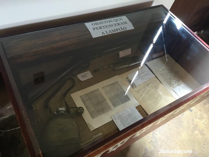 Objetos de Lampião no Museu do Sertão em Piranhas